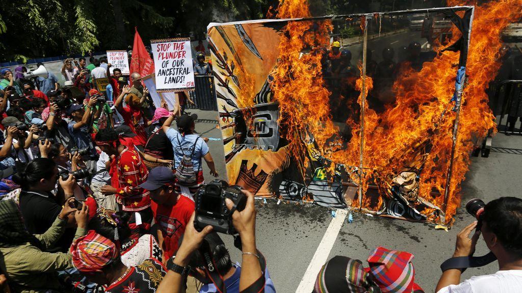 Protesta contra la actividad minera en Filipinas