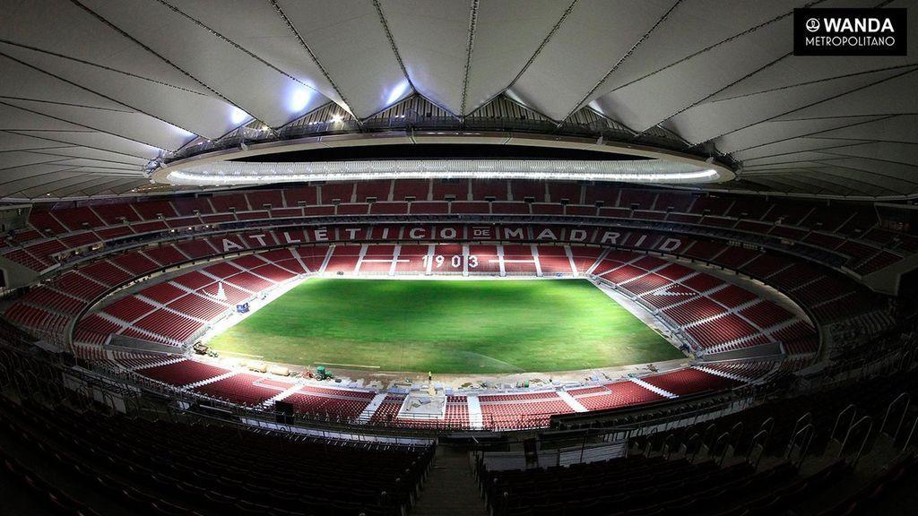 ¡El Wanda Metropolitano ya tiene césped! El nuevo estadio del Atlético luce así de espectacular