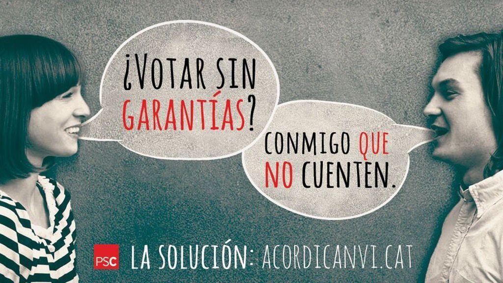 El PSC lanza una campaña para que los catalanes no voten en el referéndum del 1-O