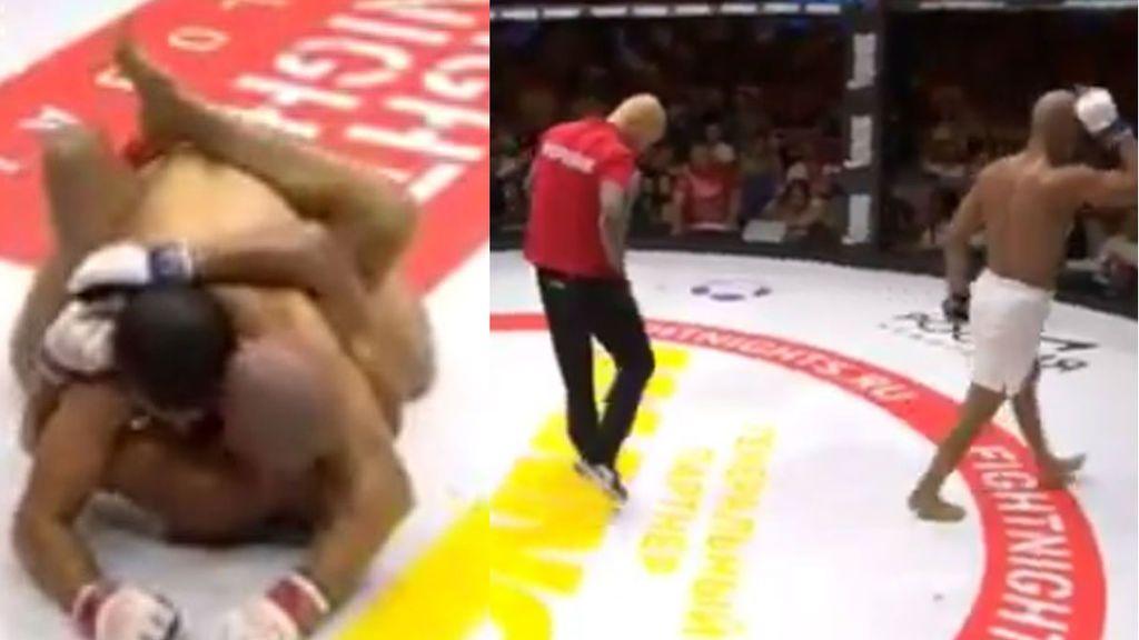 ¡La escena más bizarra de la UFC! Le muerden, se marcha indignado... ¡y le obligan a volver al ring!