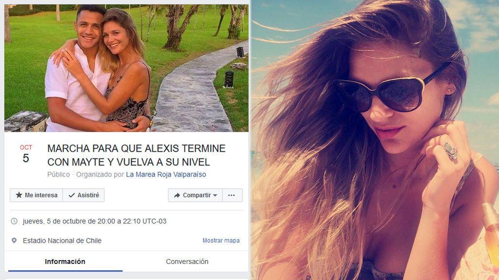¡50.000 hinchas chilenos se apuntan en Facebook a este evento machista contra la novia de Alexis Sánchez!