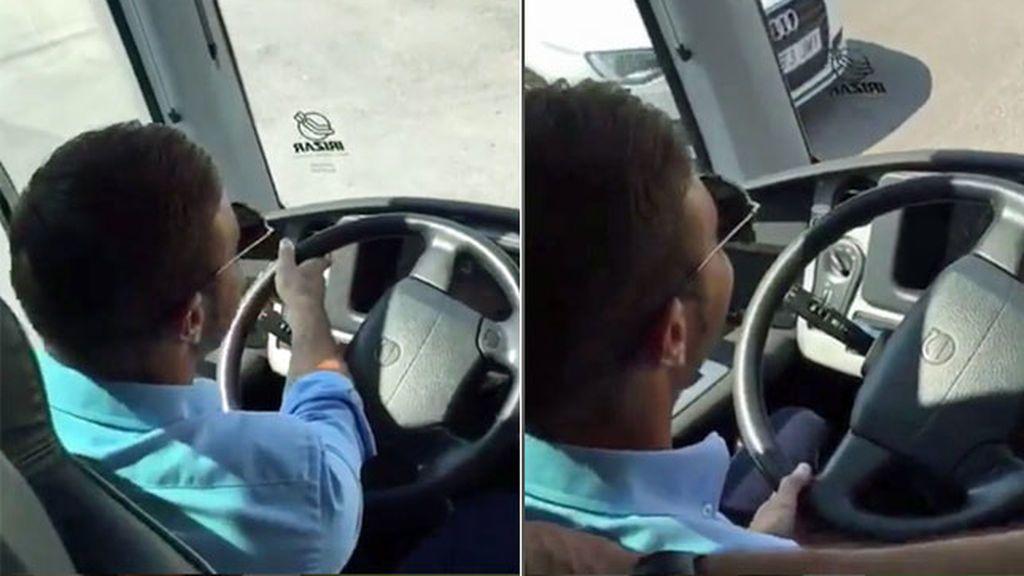 """Y Joaquín cumplió su sueño: así condujo el autobús del Betis: """"Dale un poquito de calor"""""""