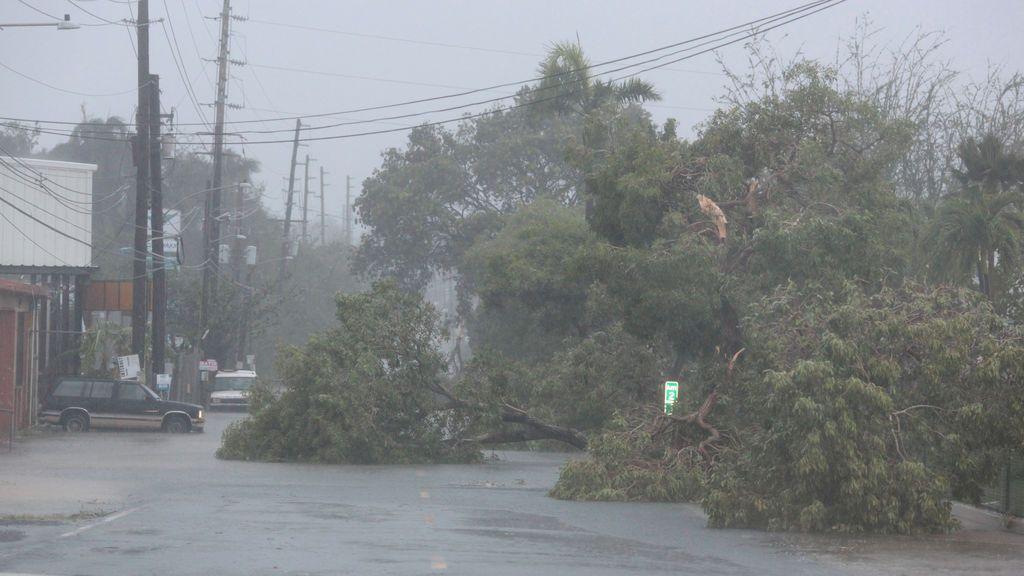 El huracán Irma azota Puerto Rico