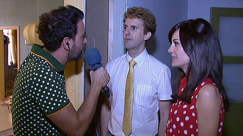 Alexandra Jiménez y Julián López, Luisa y Jaime en 'Superlópez'