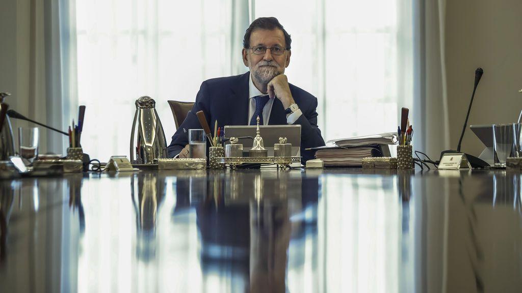 Mariano Rajoy en el Consejo de Ministros Extraordinario