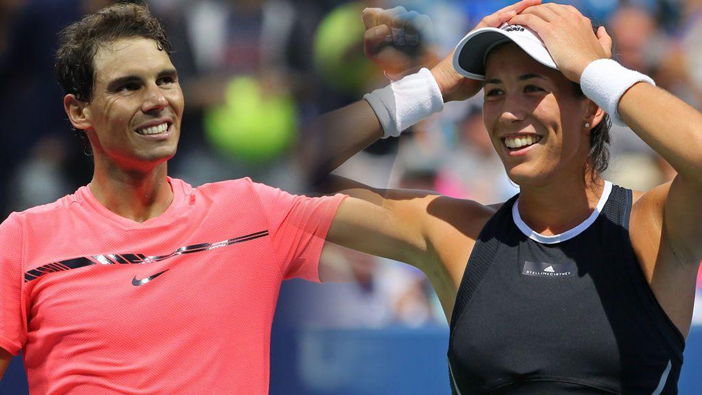 Garbiñe Muguruza y Rafa Nadal colocan el tenis español en lo más alto del mundo