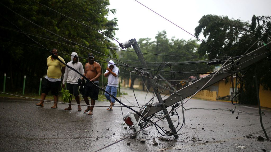 República Dominicana, azotada por el huracán Irma