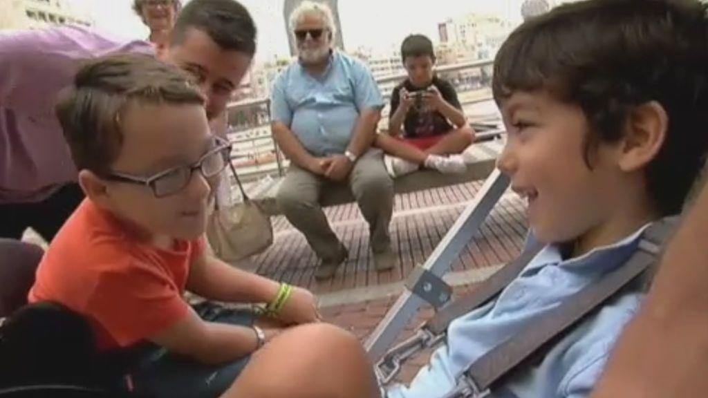 El reencuentro de Iker y Pepe, dos niños unidos por su lucha contra la enfermedad