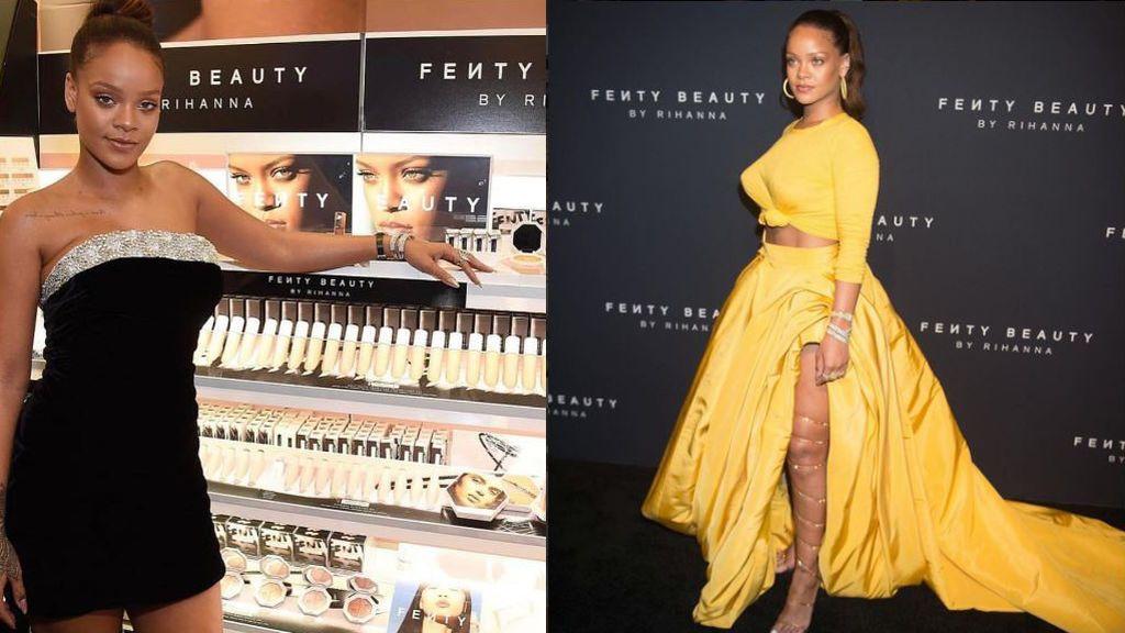 Rihanna brilla con el color amarillo y negro