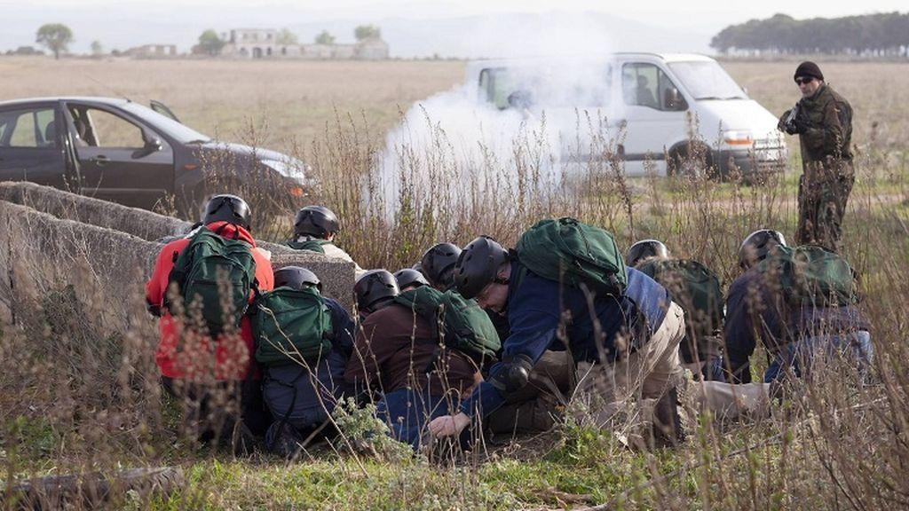 Diez agentes de la Guardia Civil, heridos en unas prácticas de tiro
