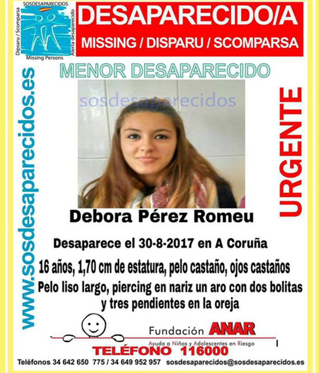 Buscan a una menor desaparecida el 30 de agosto en A Coruña