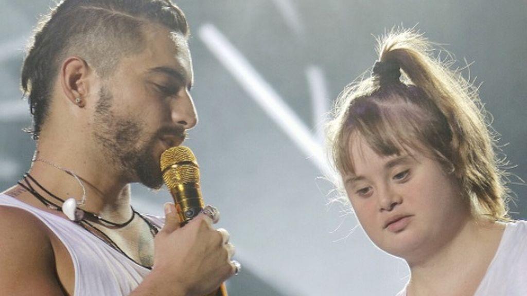 La sorpresa en el concierto de Maluma que ha enternecido a las redes
