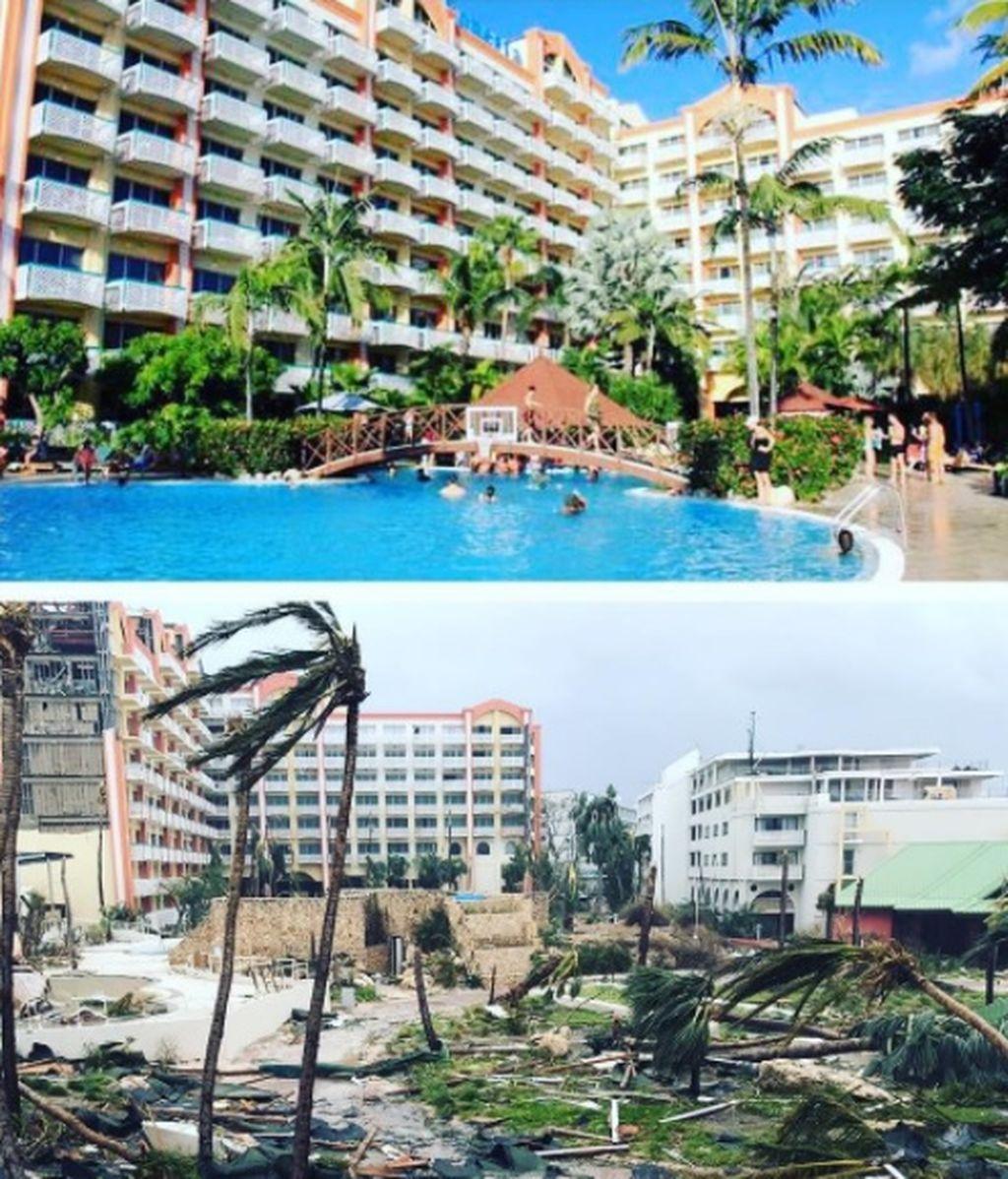 El espectacular antes y después tras el paso del huracán Irma