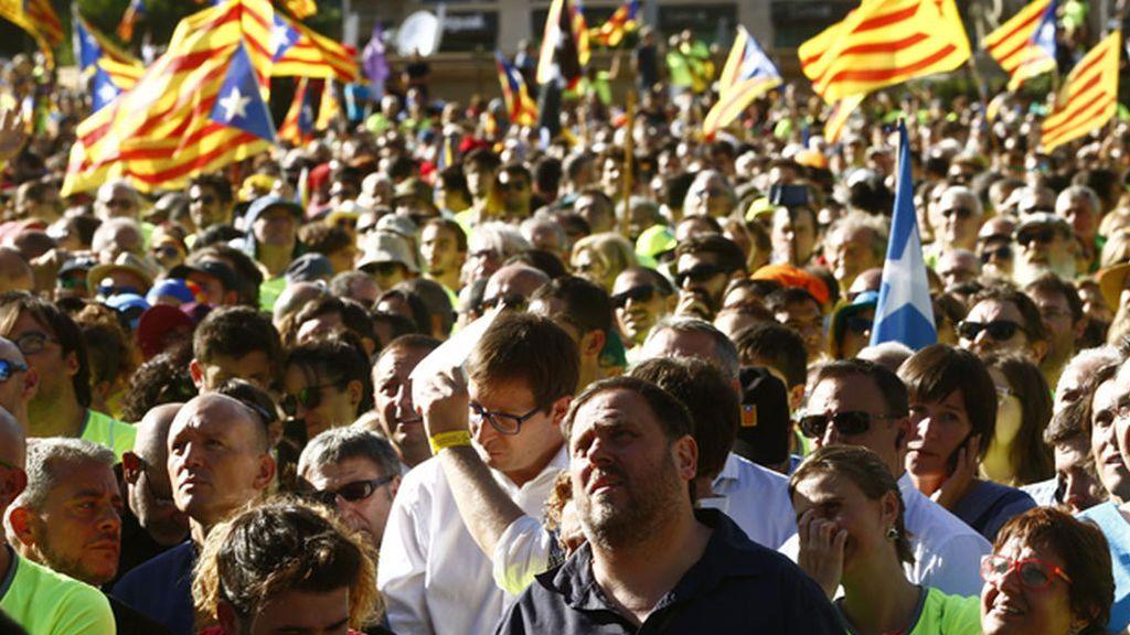 Oriol Junqueras, durante la Diada de Cataluña