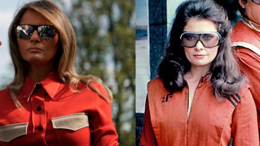 Melania Trump y su gran parecido con Diana de 'V'