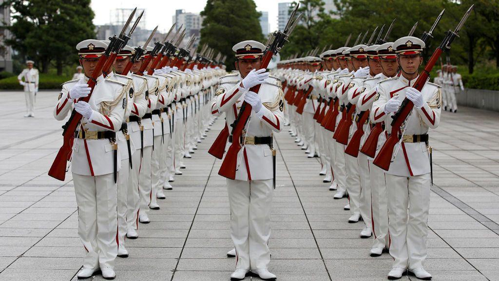 Ceremonia para el Primer Ministro japonés en Tokio