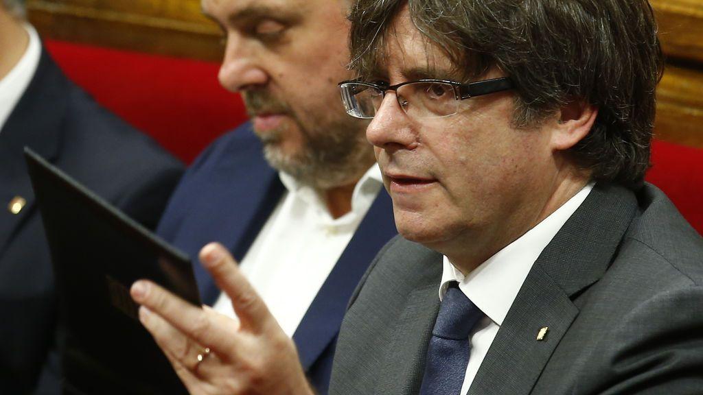 """Puigdemont reitera que está abierto """"hasta el último minuto"""" para negociar el 1-O"""