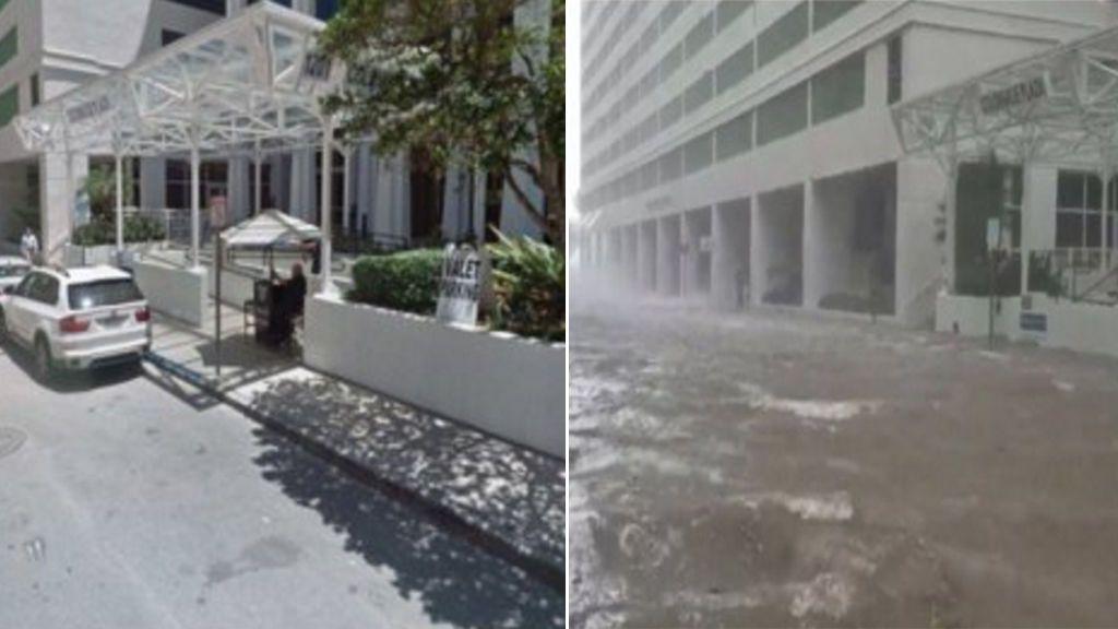 Miami, golpeada y bajo el agua: las fotos más impresionantes del antes y después del Irma