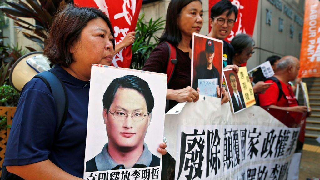 Manifestación en Hong Kong en favor de la democracia