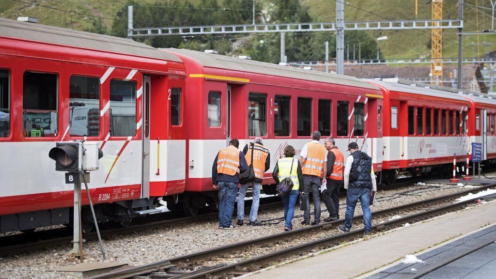 Un choque de tren en una estación de Suiza deja 30 personas heridas