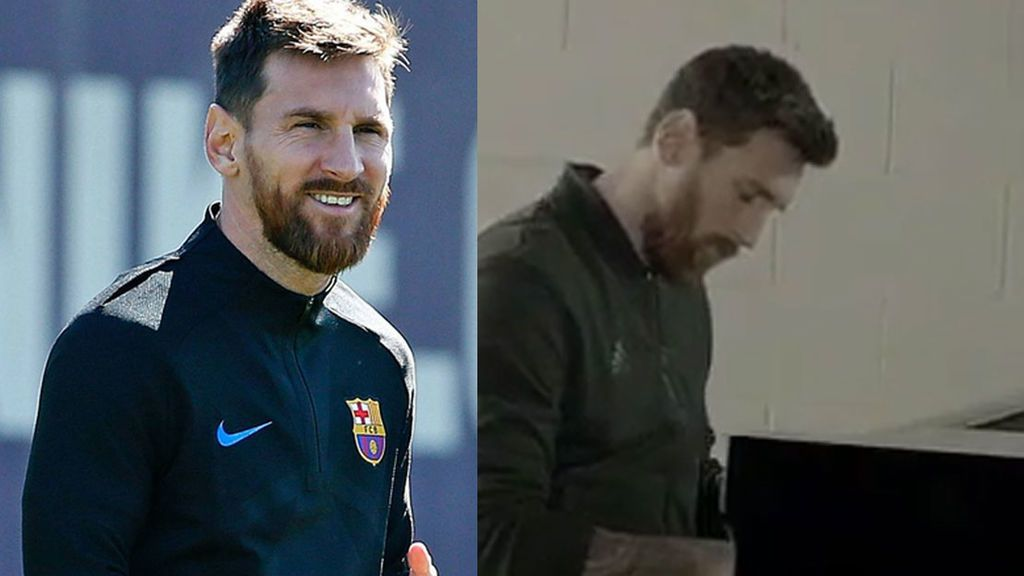 ¿Realidad o vacilada de Messi? Así 'toca' con un piano el himno de la Champions