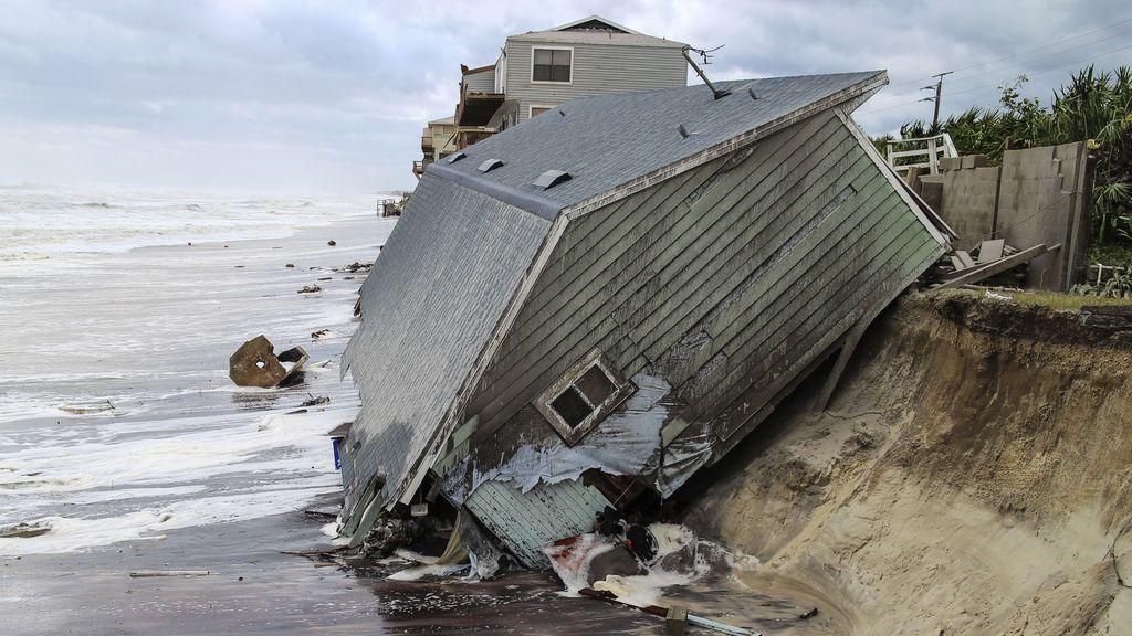 Casa arrastrada al mar tras el paso del huracán Irma en la playa de Ponte Verda, Miami