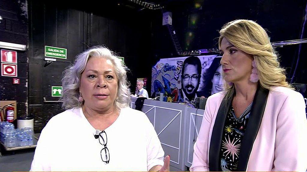 Carmen Gahona se disculpa con Carlota Corredera tras su desencuentro