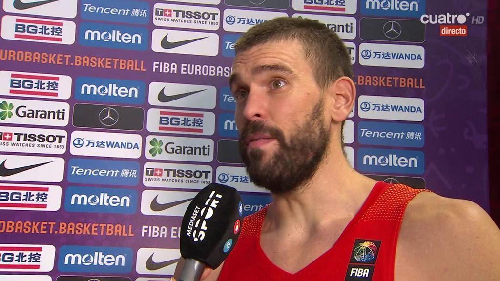 """Marc Gasol: """"Me hacía falta tener un partido así de bueno con la Selección"""""""