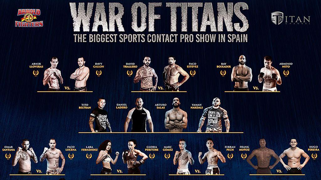 'War of Titans': 11 combates MMA/K1 y un 'Open submission' con los mejores luchadores y la presencia de Arnold Schwarzenegger