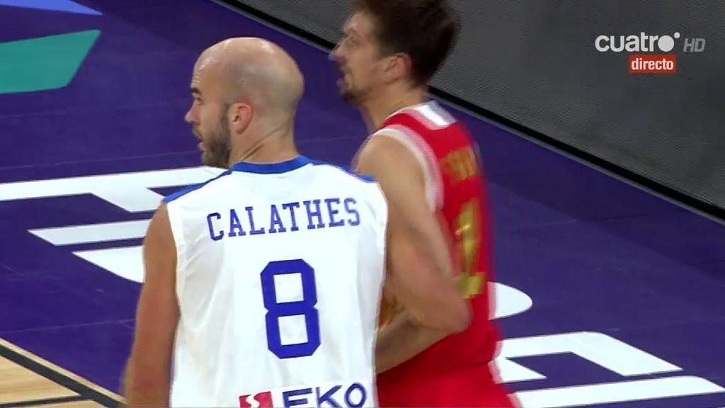 ¡Qué manera de lucirse! Marcó los pasos para entrar a canasta pero dio una de las asistencias más bonitas del Eurobasket