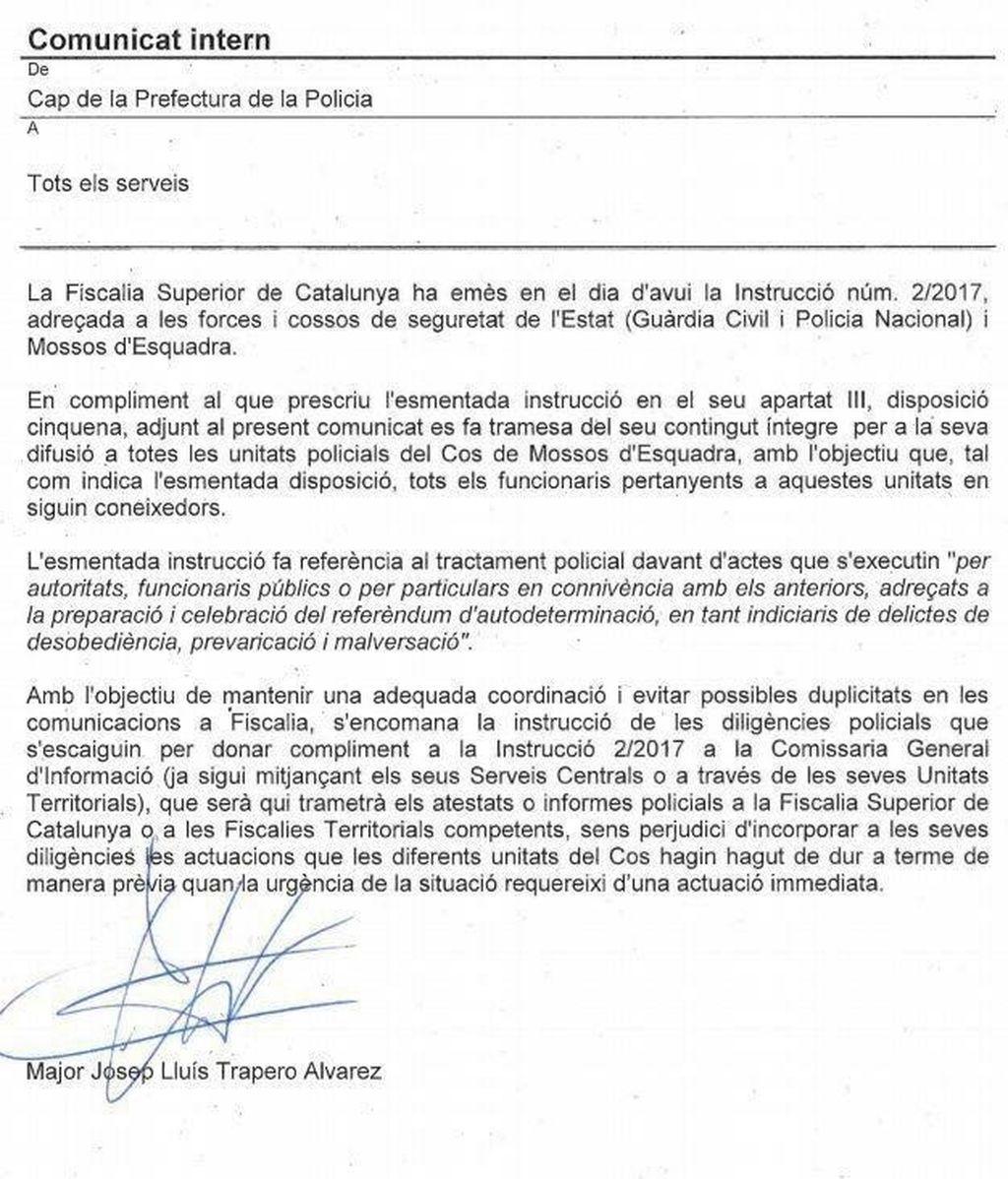 comunicado mossos