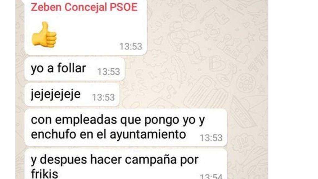"""El PSOE suspende de militancia al concejal canario que se jactó de """"follar"""" con empleadas"""