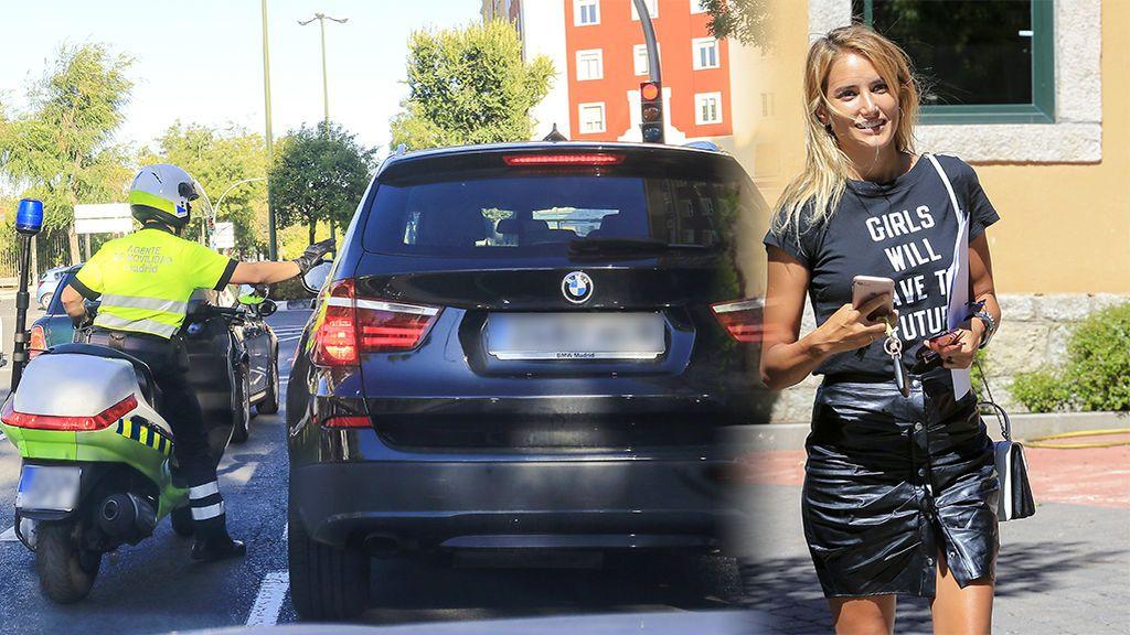 ¡Cazada! Alba Carrillo, frente a los agentes de tráfico