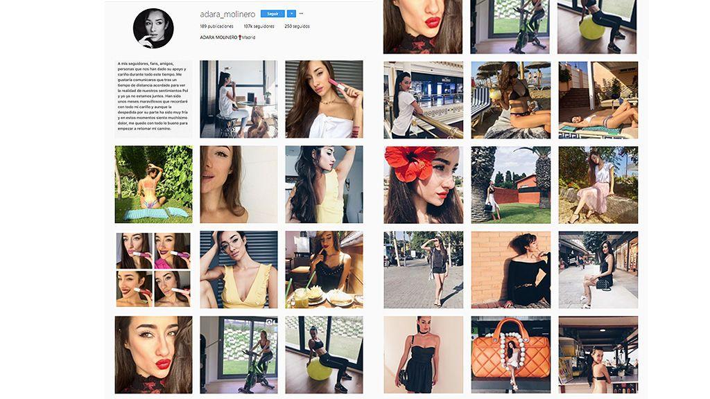 Adara borra las fotos de Pol de su Instagram