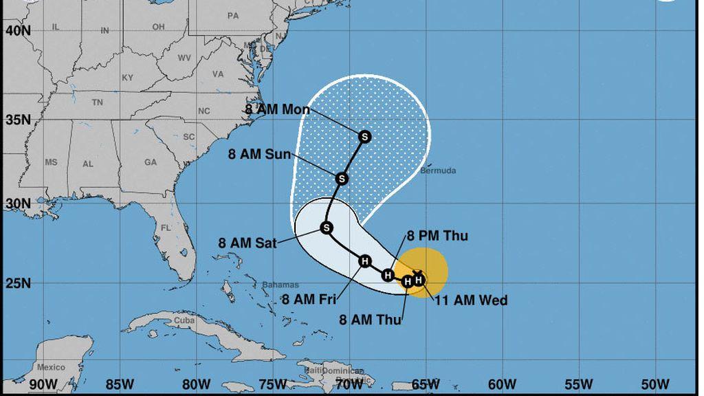 El huracán 'José' se fortalece en el Atlántico