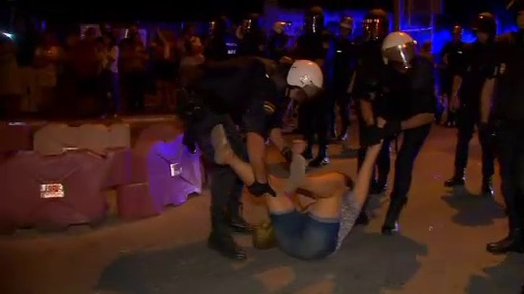 Disturbios en las protestas por el AVE en Murcia