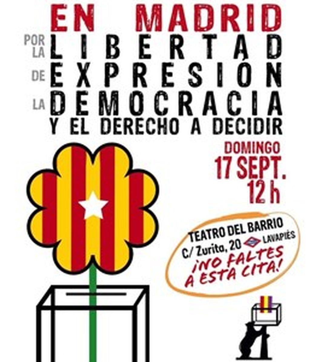 El acto a favor del referéndum catalán se celebrará finalmente en el Teatro del Barrio de Lavapiés