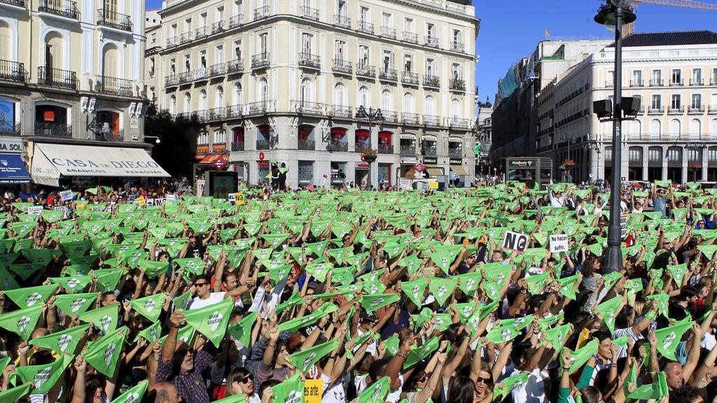 Miles de personas marchan en Madrid para pedir la prohibición de los festejos taurinos