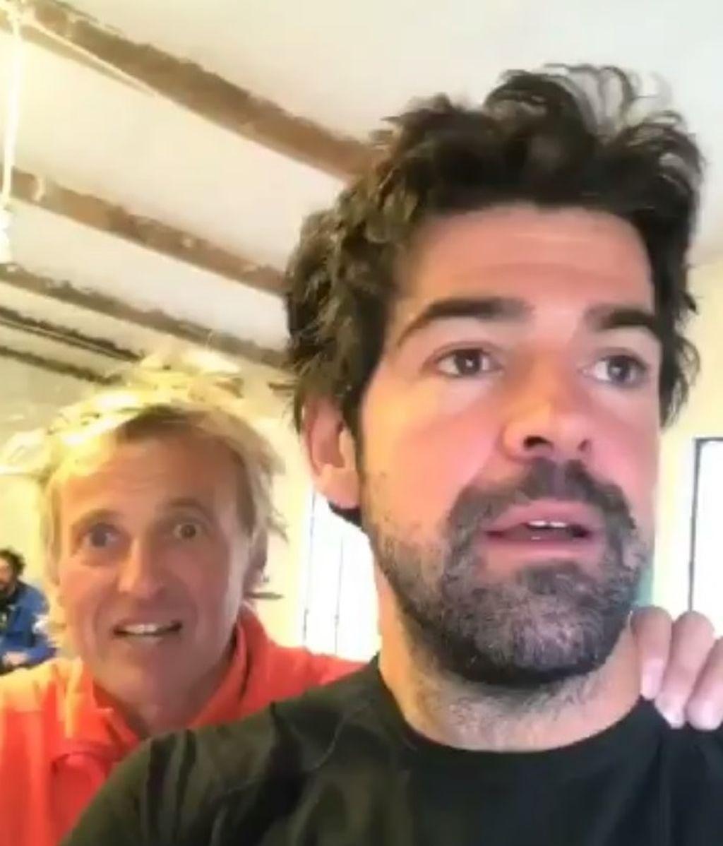 Jesús Calleja y Miguel Ángel Muñoz están atrapados en un refugio... ¡¡en llamas!!
