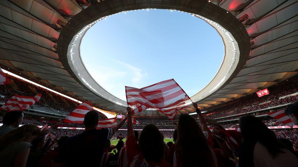 ¡Los pelos de punta! Así fue el primer himno del Atlético en el Wanda Metropolitano