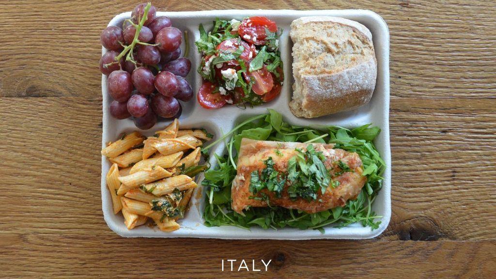 Compara la comida que los colegios ofrecen alrededor del mundo
