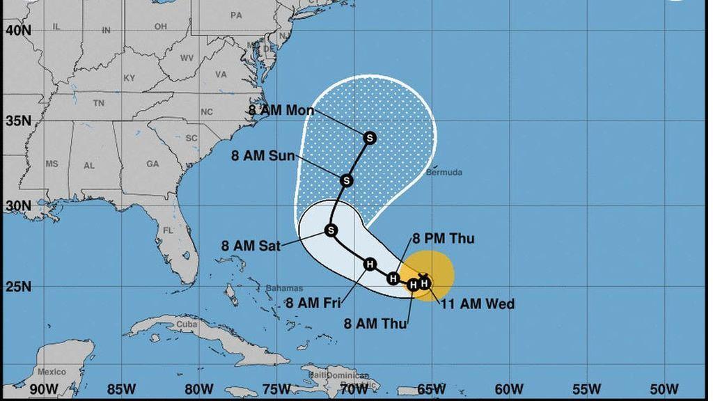 hurac n jos 39 jose 39 recupera la categor a de hurac n mientras avanza en el atl ntico. Black Bedroom Furniture Sets. Home Design Ideas