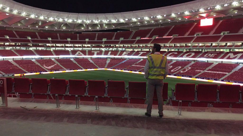 Gran dispositivo de seguridad en el partido inaugural del Wanda Metropolitano