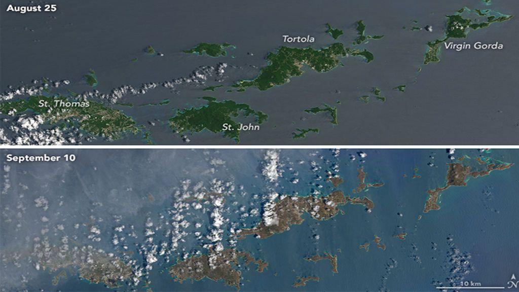 El huracán Irma ha dejado a las islas de Caribe sin vegetación
