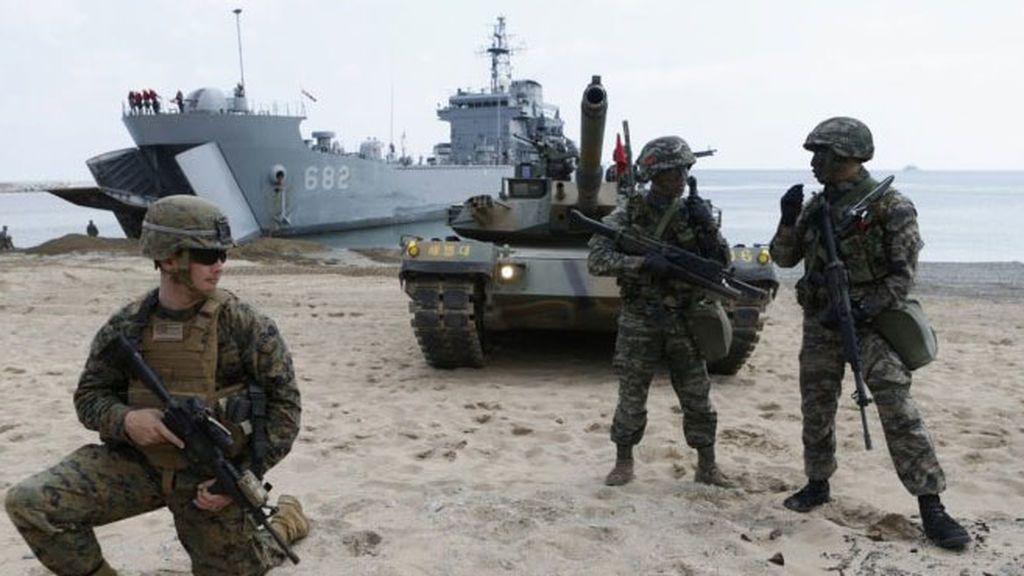 Estados Unidos y Corea del Sur ensayan ataques aéreos en sus maniobras conjuntas