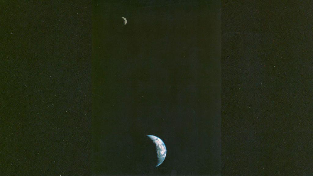 La primera imagen de la Tierra y la Luna tomada desde el espacio cumple 40 años