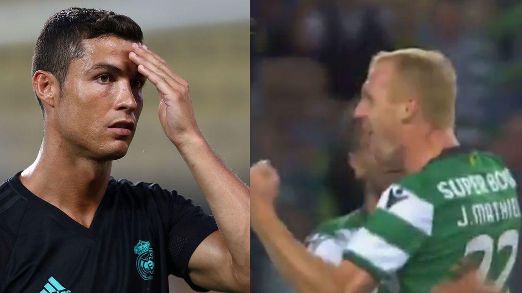 Cristiano alucinó en directo con el golazo de falta de Mathieu