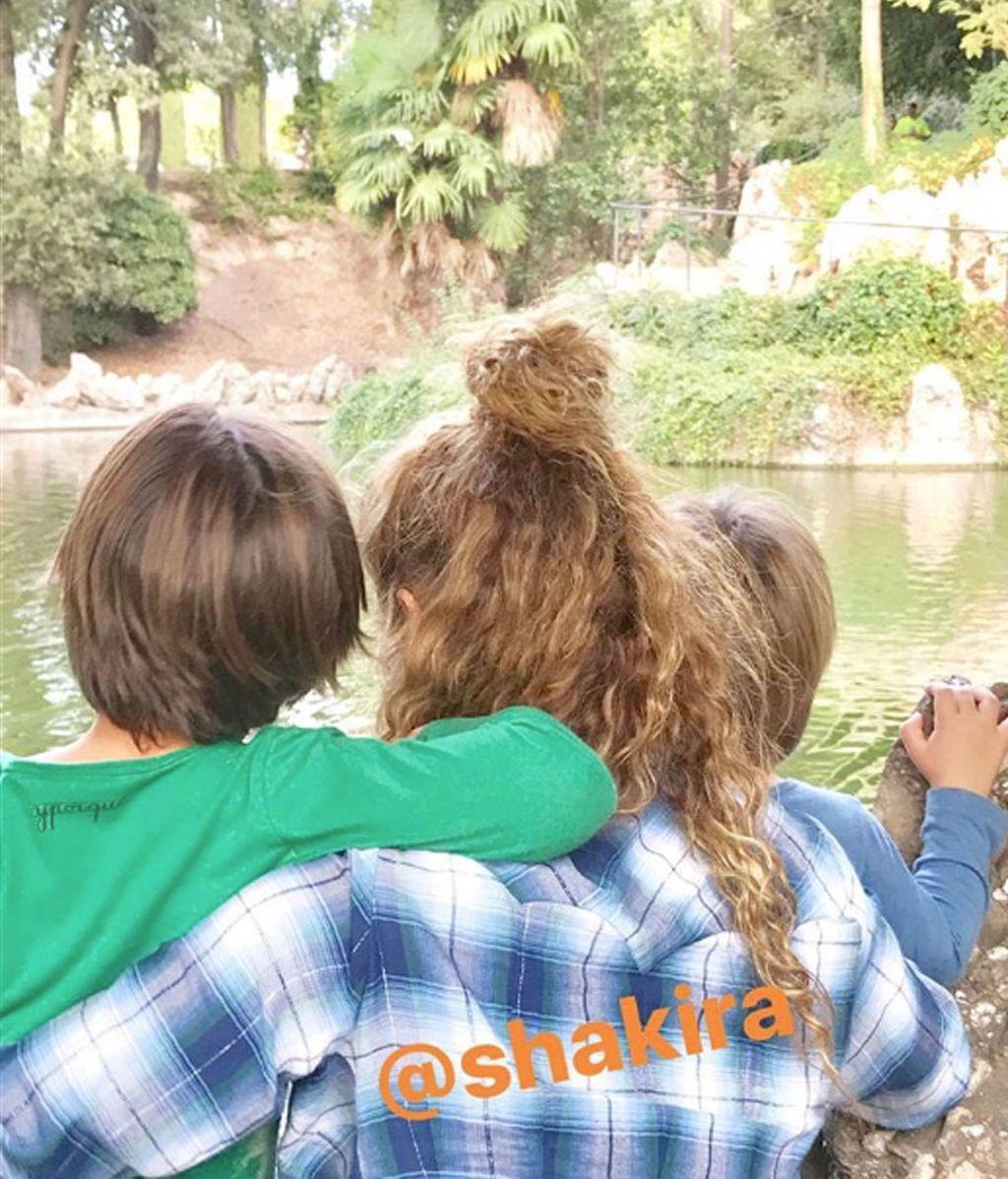 Shakira y Piqué family time