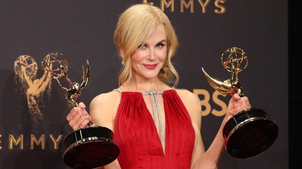 Nicole Kidman estrella de la noche como productora y mejor actriz de miniserie