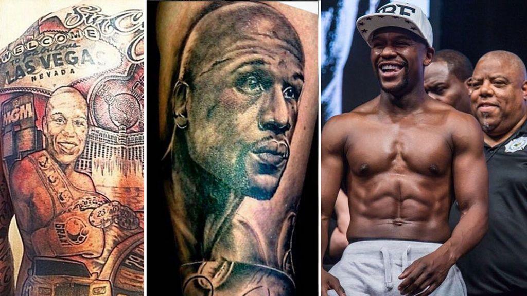 Los tatuajes hiperrealistas más alucinantes que se han hecho los seguidores de Mayweather